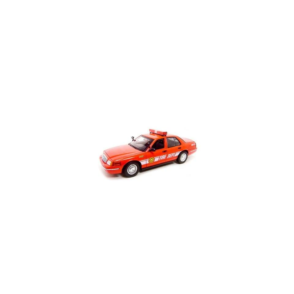 Fire Chief Car Ford Crown Victoria 118 Diecast Model