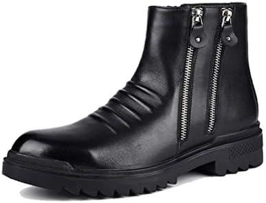 サイドゴア ショートブーツ メンズ 靴 ミリタリーブーツ ジッパー 両サイドジップ ?士靴 革靴 マーティンブーツ スノーブーツ 雪靴 裏起毛 防水 防滑 防寒 ブーツ メンズ ハイカット エンジニアブーツ