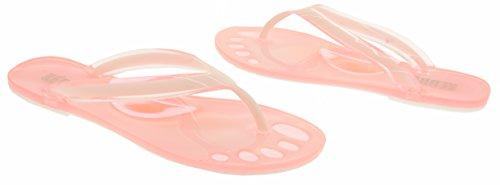 Keddo Mujer sandalias de dedo del pie de diseño Color de rosa