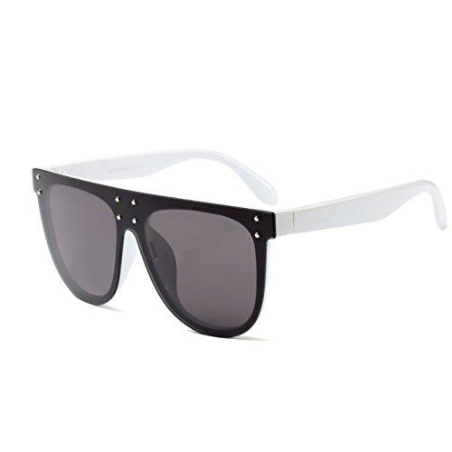 sol cuadrado oval Eyewear sol de negro Moda marca Mujeres sobredimensionado ZHANGYUSEN Hombres Gafas plana mujer gris marco de de Designer blanco gafas FgxnwPPqBE