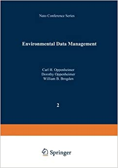 Environmental Data Management (Nato Conference Series (closed) / I Ecology)