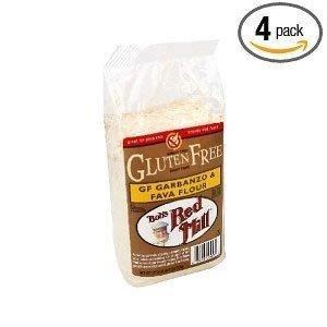 Bob's Red Mill Flour, Garbanzo / Fava, Gluten-Free 22 oz. (Pack of 4)
