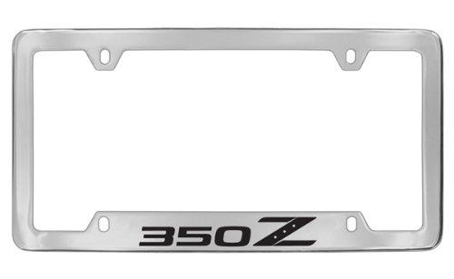 Nissan 350z Chrome Plated Metal Bottom Engraved License Plate Frame Holder -