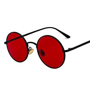 DXXHMJY Gafas de Sol Gafas de Sol Redondas de Metal Hombres ...