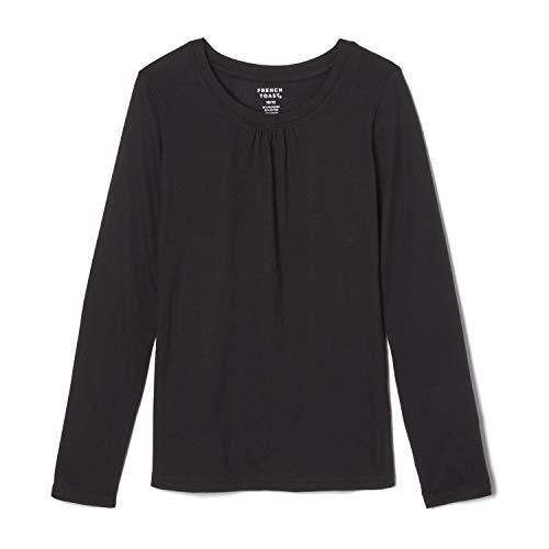 Black Girl For Halloween (French Toast Girls'  Long Sleeve Crewneck Tee Shirt, Black, 4,Little)