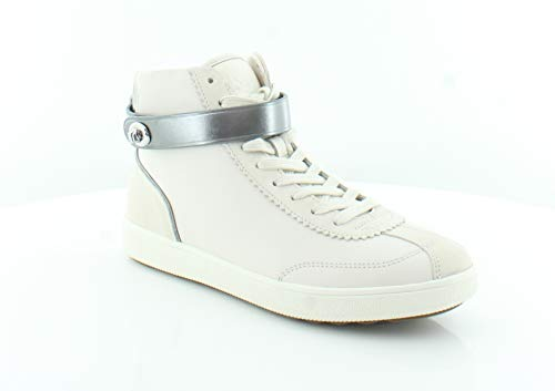 Coach Women's C213 - High Top Sneaker Sheep Nappa Suede Chalk/Chalk 9 B US (Coach Tops High)