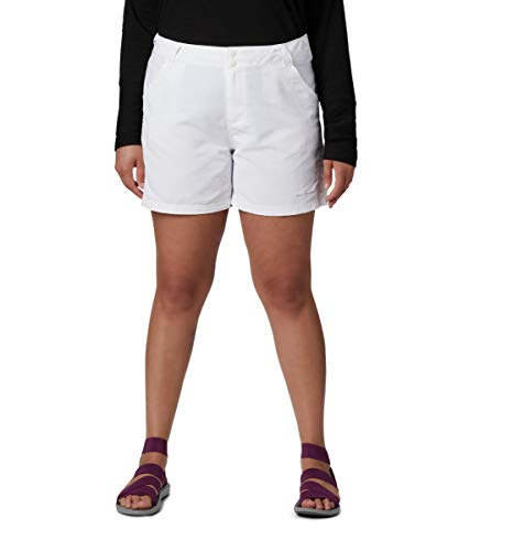 Columbia Women's Coral Point II Short, UV Sun Protection, Moisture Wicking Fabric, White, Medium x 6