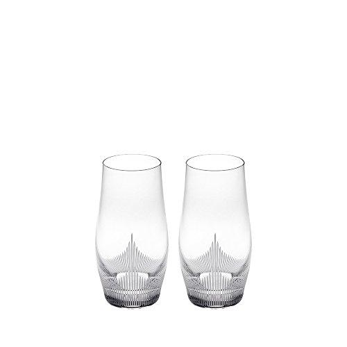 Lalique 100 Points Longdrink Tumbler Glasses by James Suckling, Pair