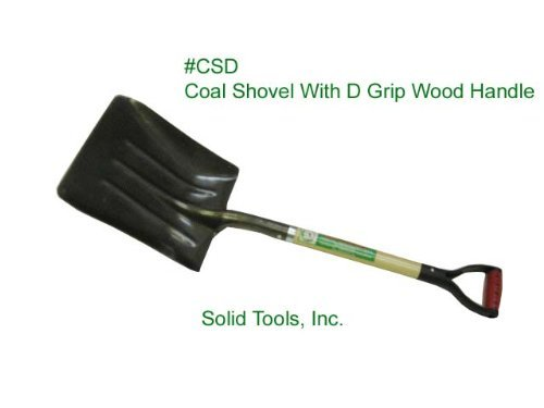 Steel Coal Shovel with Wood Handle by Forgecaft USA