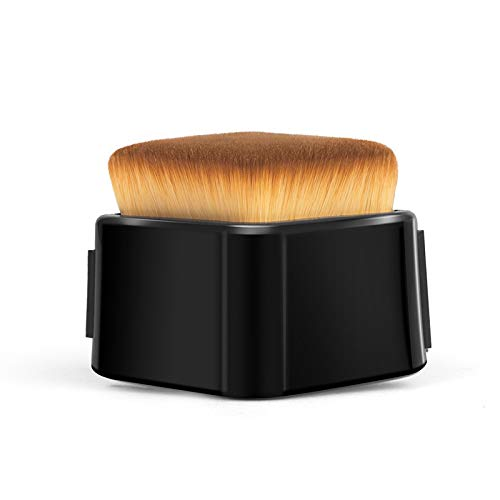 Foundation Makeup Brush Flat Top Kabuki for Face & Body - Perfect for Blending Liquid, Cream or Powder-Permium Quality Synthetic Dense and Soft Bristles with Brush Protector!