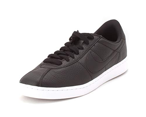 Nike Mens Bruin Leather Low Top Lace Up Running, Black/Black-White, Size 11.5