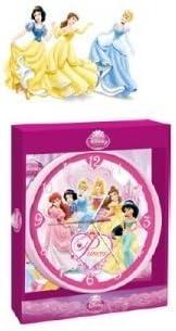 Wanduhr Disney Prinzessin rosa 24,5 cm groß Uhr Kinderzimmer tickt Kinderuhr