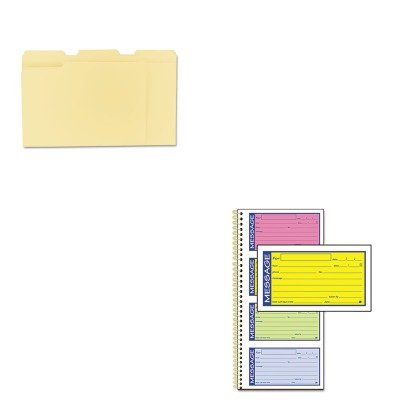 KITABFSC1153RBUNV12113 - Value Kit - Adams Wirebound Telephone Message Book (ABFSC1153RB) and Universal File Folders (UNV12113)