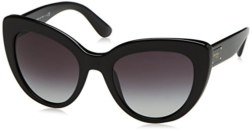 Dolce & Gabbana Women's Acetate Woman Cateye Sunglasses, Black, 53 - Designer Sunglasses Gabbana Dolce