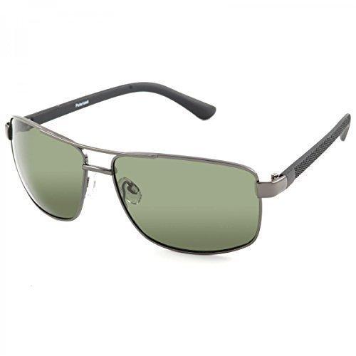 Polarisation Designer Sport Sonnenbrille Wayfarer Brillen Polbrille Sport 20376, Linsenfarbe:Eloxiert