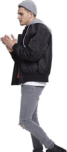Hombre para Mehrfarbig 29 Gry Urban Jacket Bomber Oversized Blk Chaqueta Classics Hooded wqYpU06