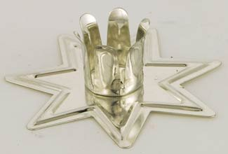 1 X Silver Fairy Star Chime Candle Holder