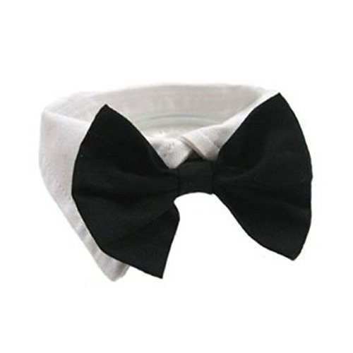eyesonme Selected Adjustable Dog Bow Tie Puppy Pet Costume Collar Stripe Dogs Cats Tie Neck, Perfect for Wedding/Tie Party Accessories, Black
