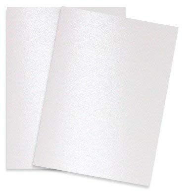 Shimmer Pure White Pearl 92C 8-1/2-x-11 Cardstock Paper 25-pk - PaperPapers 2pBasics 249 GSM (92lb Cover) Letter Size Card Stock Paper - Business, Card Making, Designers, Professional and DIY (Metallic Business Cards)