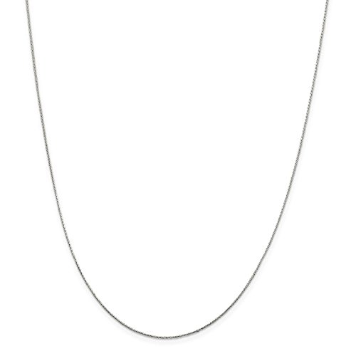 925 Sterling Silver .8mm Diamond-cut Round Spiga Chain Necklace 20