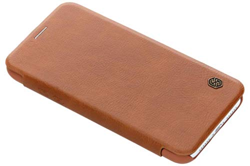 Nillkin Qin Series Luxury Leather Wallet Flip Cover for Apple iPhone XR  6.1 inch, Qin Brown