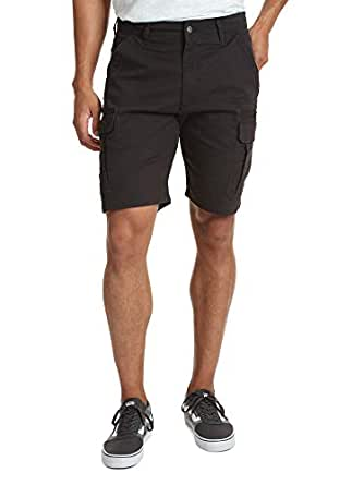 Wrangler Mens Big & Tall Classic Relaxed Fit Stretch Cargo Short Shorts - Black - 44
