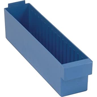 Quantum Storage Systems QED604BL Super Tuff Euro Drawers 17-5//8 L x 3-3//4 W x 4-5//8 H Pack of 24 Blue