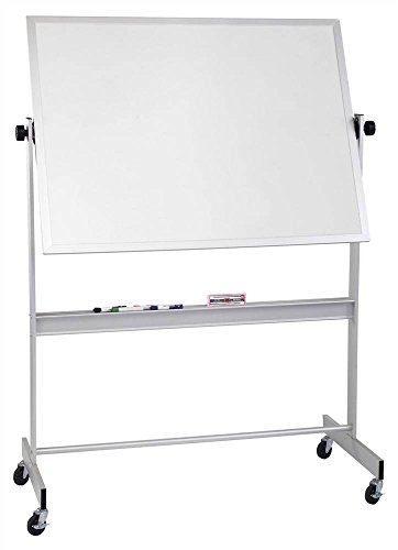 Porcelain Deluxe Reversible Boards in Aluminum Trim (72 in. W x 48 in. H (121 lbs.)) ()
