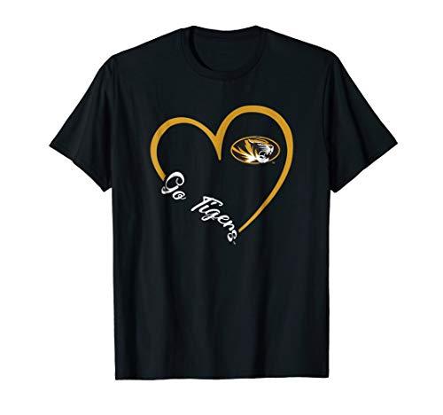 Mizzou Tigers Heart 3/4 T-Shirt - Apparel ()