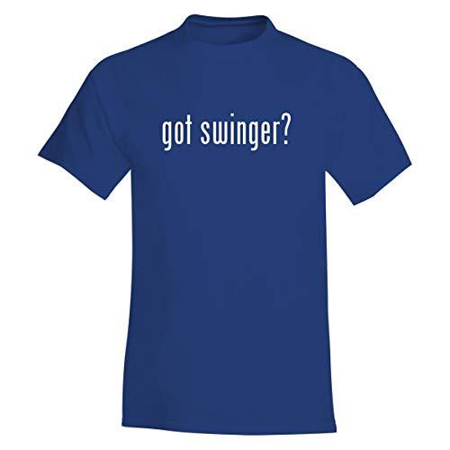 The Town Butler got Swinger? - A Soft & Comfortable Men's T-Shirt, Blue, X-Large