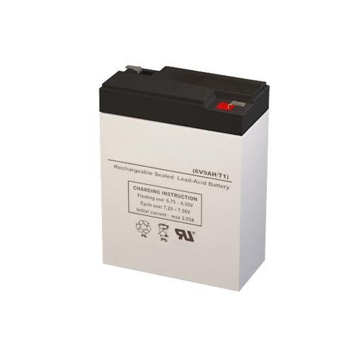 6 Volt 9 Amp Hour Sealed Lead Acid Battery Replacement with F1 Terminals by SigmasTek SP6-8.5