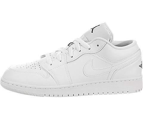 Jordan 553560-101 : Big Kid Kids Air 1 Low BG White/Black-White Sneaker (6 M US Big Kid)