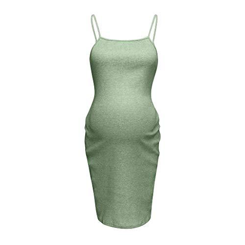 TIFENNY Maternity Sleeveless Breastfeeding Pregnancy Dresses Summer Fashion Convenience Elastic Force Mini Dress -