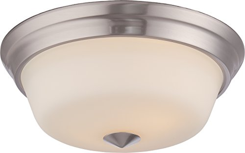 Nuvo Lighting 62/363 Calvin 2-Light Flush Fixture with Satin White Glass and LED Omni