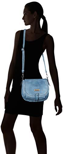 Bandolera Mujer X Para Cm w 26x19x9 Refresh jeans L 83183 Azul H Bolso IqwWEp6S