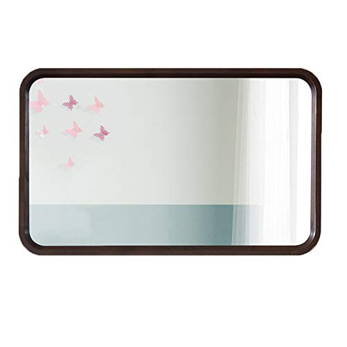 Large Wall Mirror/Rectangular Wood Frame Mirror/Retro Home Decoration Mirror/Horizontal or Vertical Suspension/for -