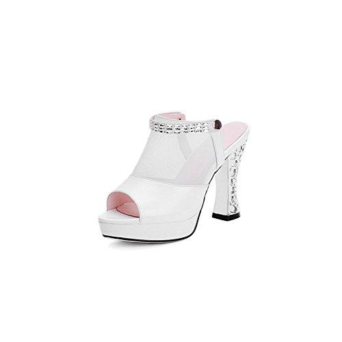 Blanc 5 SLC04264 36 Femme EU AdeeSu Plateforme Blanc UtZOvxw