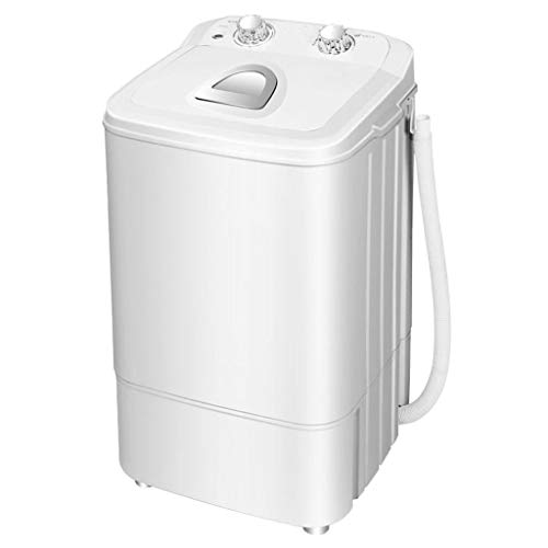 Portable Washing Machine,Small Semi-Automatic Compact Washing Machine with Timer Control Space Saving for Apartment, Hotel, Home 360390650 MM(White)
