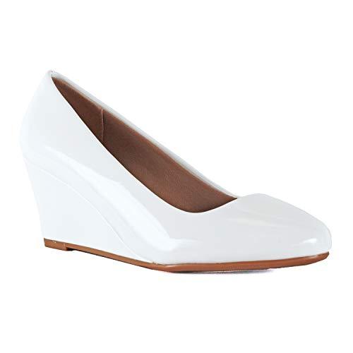 (Guilty Shoes - Doris-22 White Patent, 8.5)