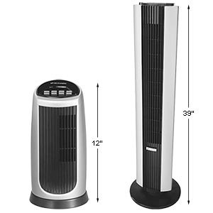 Amazon com: Bionaire Tower Fan & Mini Tower Fan Combo: Home