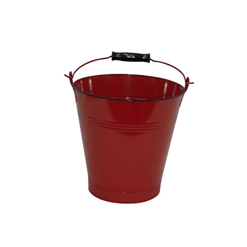 Medium Red Enamel Pail - Set of 2