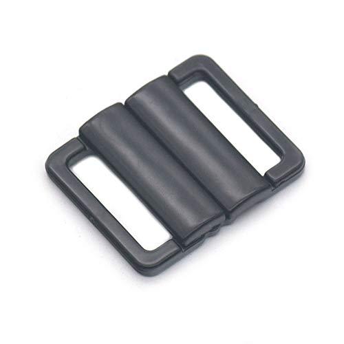 - Bluemoona 20 Pcs - Plastic 20mm Bikini Clip Snap Hook Bra Strap Swimwear Clasp Fastener Buckle Black
