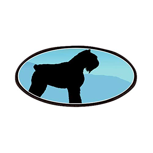CafePress Blue Mountains Bouvier Dog Patches Patch, 4x2in Printed Novelty Applique Patch