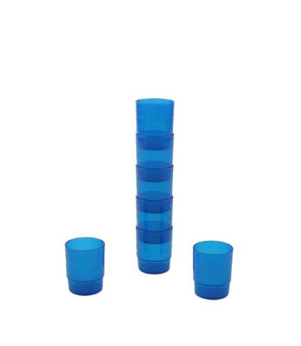 Mehrweg-Medikamentenbecher - 25 ml - blau - 60 Stück