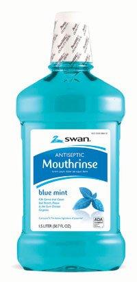 Cumberland Swan 66412 Mouthwash Antiseptic Blue Mint 1.5 Liter Ea