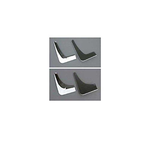 - Eckler's Premier Quality Products 25171495 Corvette Splash Guards Body Contoured Front & Rear Arctic White Altec