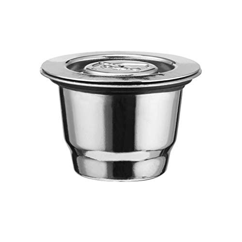UMFunStainless Steel Coffee Filter 2Pcs Reusable Coffee Capsule Make For Nespresso ()