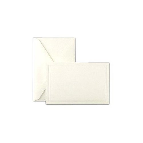 (Crane & Co. Pearl White Triple Debossed Panel Cards & Envelopes)