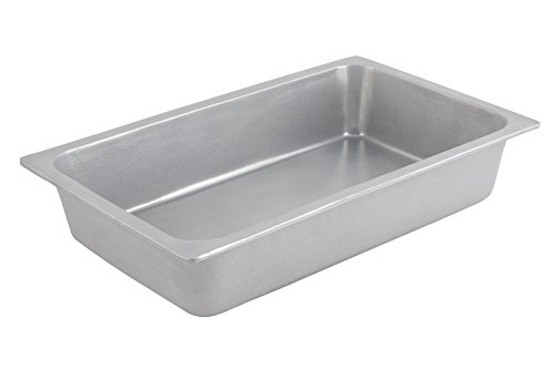 Bon Chef 5070PG Aluminum/Pewter Glo Rectangle Food Pan, Full Size, 16 oz Capacity, 20-3/4'' Length x 12-11/16'' Width x 4'' Height by Bon Chef