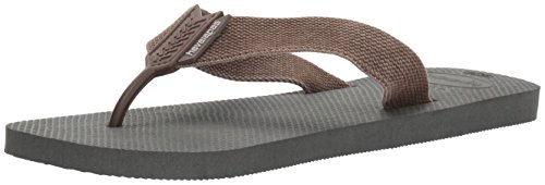 Havaianas Men's Urban Basic Sandal Flip Flop, Grey/Dark Brown, 39 BR/8 M - Brown Havaianas